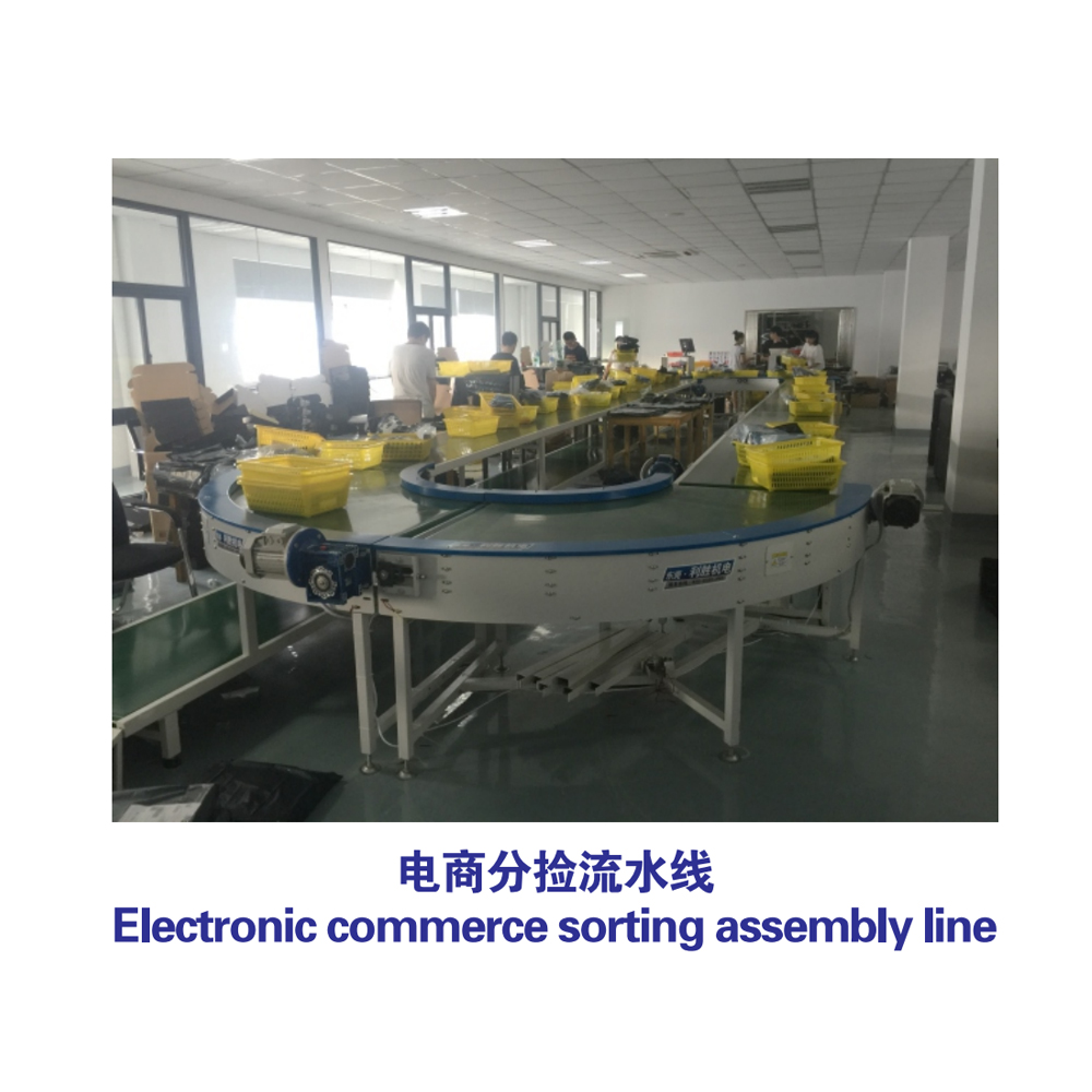 {Electronic commerce sorting assembly line